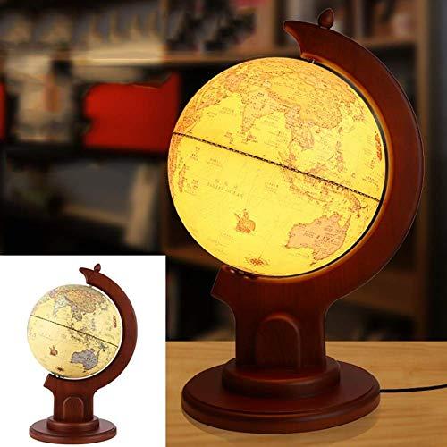 Massivholz Retro Globe Map Ornament Mittelgroße HD Büro Wohnzimmer Arbeitszimmer Dekoration - Modell 9 Zoll