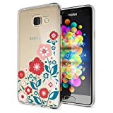 NALIA Handyhülle für Samsung Galaxy A3 2016, Slim Silikon Motiv Case Hülle Cover Crystal Schutzhülle Dünn Durchsichtig Etui Handy-Tasche Backcover Transparent Phone Bumper, Designs:Spring Flowers