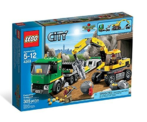 LEGO City 4203: Excavator Transport