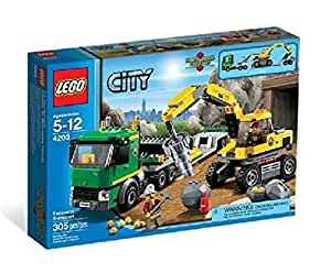 lego city 4203 jeu de construction le transporteur lego city jeux et jouets. Black Bedroom Furniture Sets. Home Design Ideas