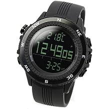 [LAD WEATHER] Sensore tedesco bussola digitale Previsioni del tempo Altimetro Barometro Cronografo allarme Outdoor (Alpinismo (Doppio Tempo Cronografo)