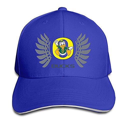 Hittings Oregon Wings Ducks Peaked Baseball Hat Red Royalblue