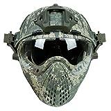Airsoft RAPIDE Casque Avec Masque de Masque Pour L'armée Militaire WarGame Moto Cyclisme Chasse