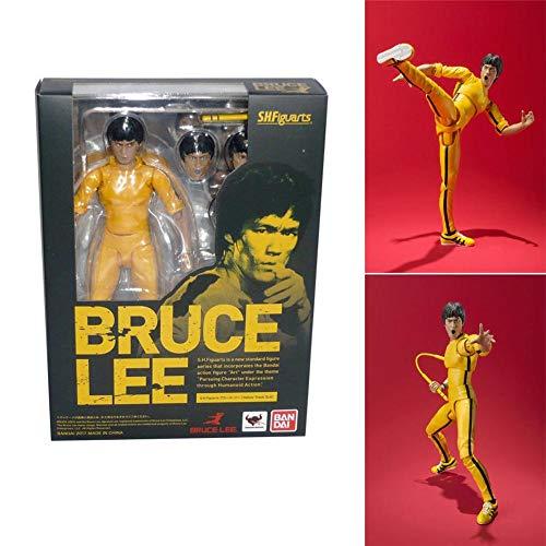 Bloomma Figura de acción,6'' Nations SH Figuarts Bruce Lee (chándal Amarillo), Maestro Kong Fu