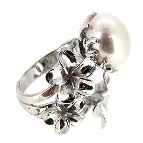 de1b0f49ff0d Queenberry Plata Esterlina anillo de filigrana Focal blanco perla cultivada  12 mm