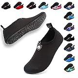 Deevike Aqua Socken Wasserschuhe Barfuß Yoga Socken Schnell Trocken Surfen Schwimmen Schuhe für Damen Herren Schwarz 1-38/39