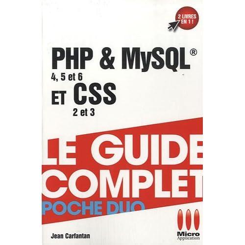 php & mysql (4,5 et 6 ) et css ( 2 et 3 ) by Jean Carfantan