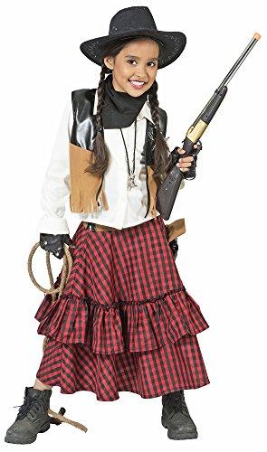 Das Kostümland Cowgirl Austine Kostüm für Mädchen - Gr. 140 (Cowboy Und Saloon Girl Kostüm)