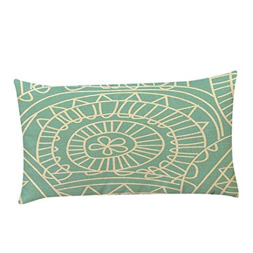 igemy funda de almohada sofá cintura Throw Cojín Decoración para el hogar...