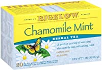 Bigelow Chamomile Mint Herbal Tea, 20-Count Boxes (Pack of 6)