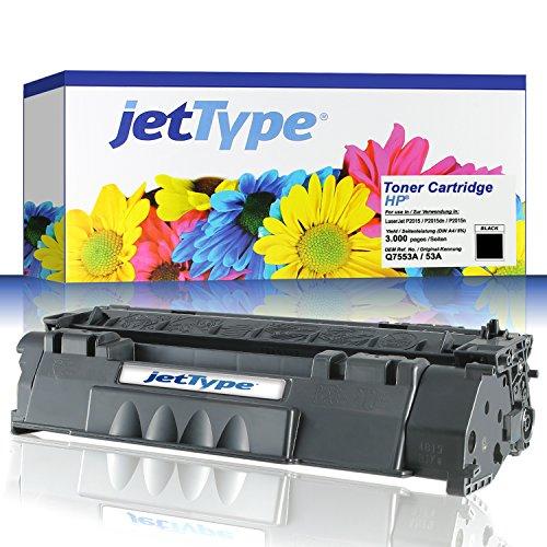 jetType Toner ersetzt HP Q7553A / 53A für HP LaserJet P2015 /...