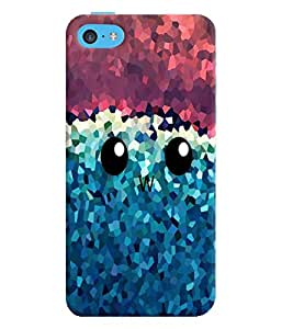 Apple iPhone 5C MULTICOLOR PRINTED BACK COVER FROM GADGET LOOKS