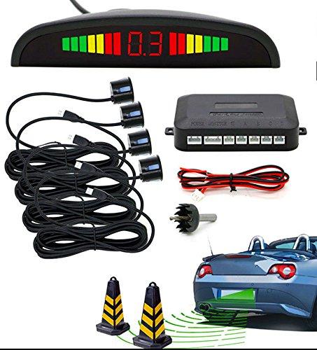 Lukuki 4 Parking Sensors Kit LED Display Car Backup Reverse Radar System Sound Alert Backup-alert-system