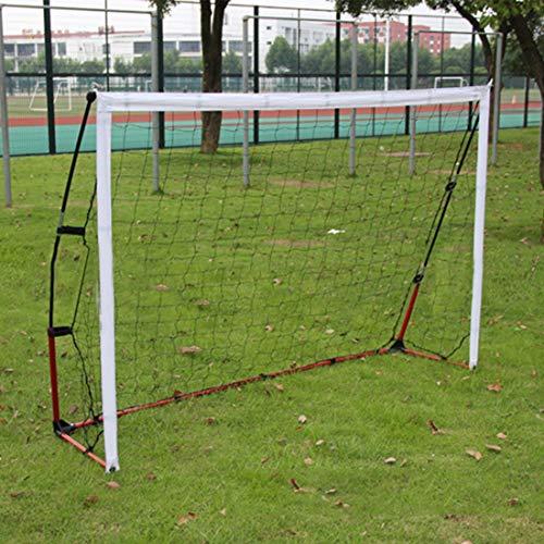 UICICI Fußball Tor Falten Kinder Erwachsene Außenraum Innen Doppel Verwendung Montage Einfache Ziel Multifunktions (Farbe : White)