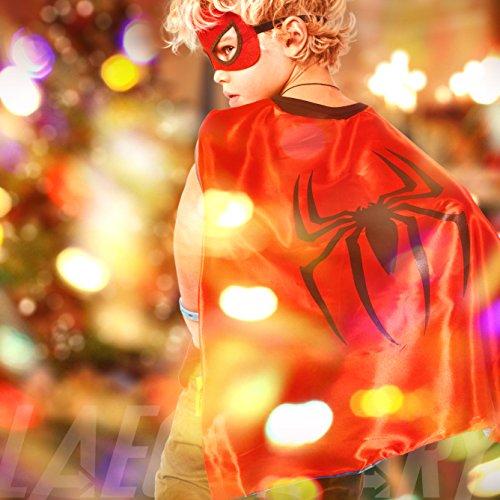 Imagen de laegendary disfraces de superhéroes para niños  4 capas y máscaras  logo brillante de spiderman  juguetes para niños y niñas alternativa