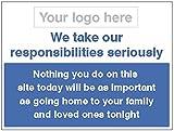 Caledonia Schilder 16686K Zeichen, Go Home safely-responsibility