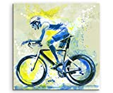 Paul Sinus Art Radsport 60x60cm SPORTBILDER Splash Art Wandbild Aquarell Art