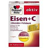 Doppelherz Eisen + C + Histidin + Folsäure - 10 mg Eisen für den normalen Energiestoffwechsel und die Bildung von roten Blutkörperchen - 1 x 30 Tabletten