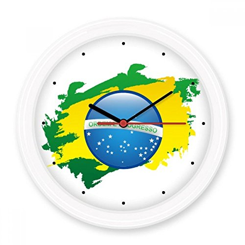 ordem-e-progresso-brazil-flag-brazil-culture-element-illustration-silent-non-ticking-round-wall-deco