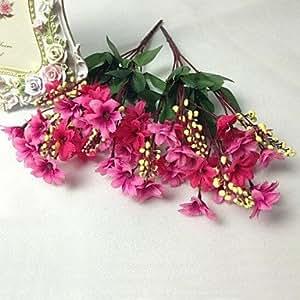 MOCHA mode 20 tête poudre de haute qualité chrysanthème ombre simulation fleur