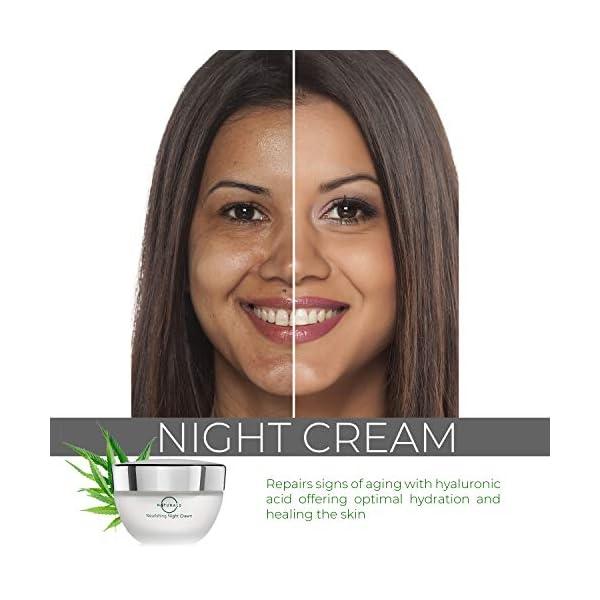 O Naturals Crema Noche Antiarrugas Mujer con Aceite de Hemp, Anti Estrés. Crema Hidratante Corrector Ojeras. Crema Noche Reparadora, Reafirmante para Cara Cuello y Escote. Estimulador de Colágeno.50gr