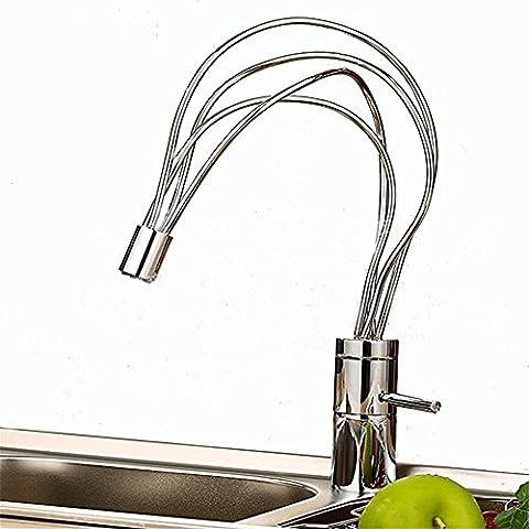 CANDYQ Kreative Vollkupfer-Becken Wasserhahn Bassinhahn heißen und kalten Mischhahn einzigartige Form , white