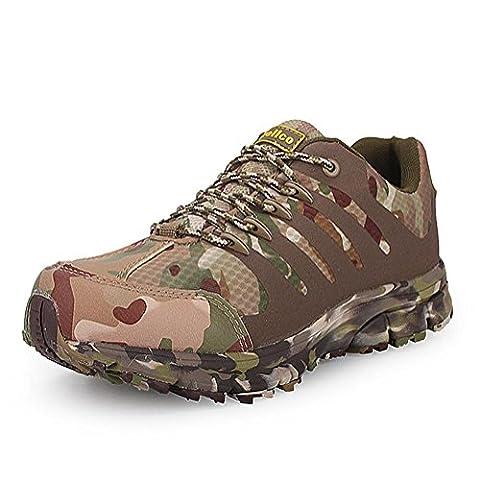 Hommes automne et hiver Basse randonnée Bottes de randonnée chaussures de sport en plein air garder des baskets chauds trempage antidérapant résistant à l'usure camping d'escalade Mountaineering boots male , camouflage , 45