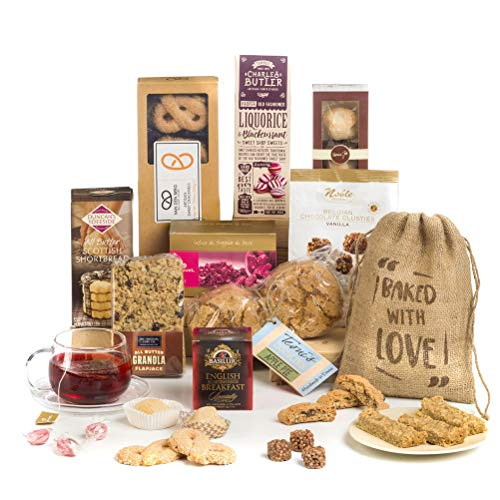 Luxury Christmas Afternoon Tea & Biscuits Hamper Gift - Free UK Delivery