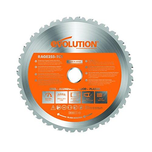 Evolution Power Tools 7–1/4-Zoll Mehrzweck Schneiden Klinge für Stahl, RAGE255Blade (Malen, Schneiden Tool)