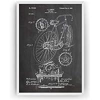 Les Vélo Affiche De Brevet Impressions Racing Bike Prints Art Patent Posters Poster Cadeaux Pour Hommes Décor Femmes Lui Blueprint Plan - Cadre Non Inclus