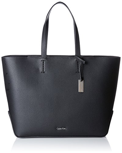 Calvin Klein Damen Edit Large Shopper Tote, Schwarz (Black), 16x36x36 cm (Shopper Kleiner)