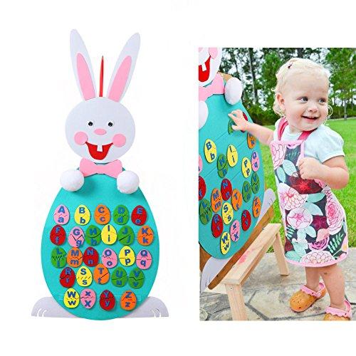 Aytai 3ft bricolaje fieltro juego de reconocimiento de alfabeto Huevos de Pascua decoración preescolar carta educativa juegos a juego para niños cumpleaños decoraciones de pascua