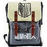 CoolChange mochila de Ataque à los Titanes con sección para los papeles o para el ordenador portátil