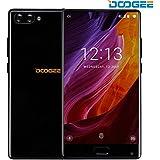 Telephone Portable Debloqué, DOOGEE MIX 4G Smartphone Pas Cher (Écran: 5,5 Pouce Super AMOLED - Helio P25 Octa Core 2.5G - 6Go + 64Go - 16MP + 5MP Double Caméras - Empreinte Digitale - 3380mAh Avec Charge Rapide - Double SIM - Android 7.0) Noir