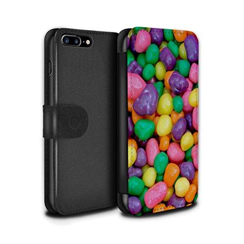 Stuff4 Coque/Etui/Housse Cuir PU Case/Cover pour Apple iPhone 7 Plus / Nerds Design / Confiserie Collection Nerds