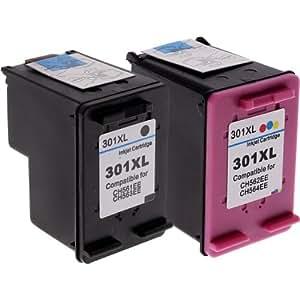 Refilled HP 301XL Black CH563E + HP 301 XL Colour CH564E