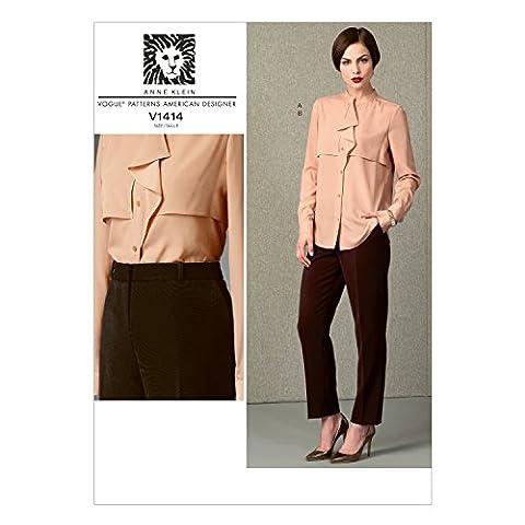 Vogue Patterns 1414 8–10–B5 Patrons de couture Haut et Pantalon pour femme Taille 42 à 46