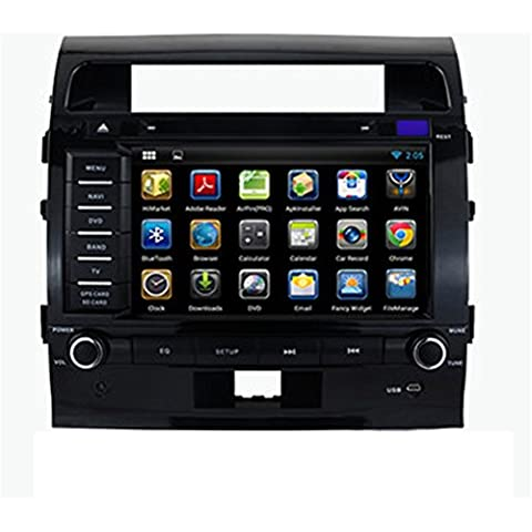 Generic 8 pulgadas Car PC Android 4.4 Land Cruiser 200 2008 2009 2010 2011 2012 Car Radio DVD GPS Navigation Auto Parte de audio y vídeo, WI-FI, Bluetooth estéreo DVD Dual Core 8 G Support 3 G Wifi RDS, iPod, Bluetooth