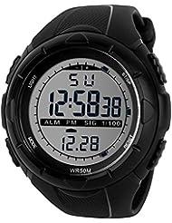 TTLIFE 1025 Reloj de Pulsera Multi Función Unisex Digital LED Relojes Electrónicos Deportivos Resistentes al agua (negro)