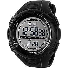 TTLIFE 1025 Reloj de Pulsera Multi Función Unisex Digital LED Relojes Electrónicos Deportivos Resistentes al agua (negro) - Automatico Blu Mens Watch