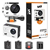 Action Cam 4K, YDI H9R Wasserdicht Sport Kamera Unterwasserkamera Ultra HD 1080P WIFI 170...