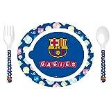 F.C. Barcelona - Pack de 3 piezas vajilla microondas, 22 x 19 cm (Seva 7109060)