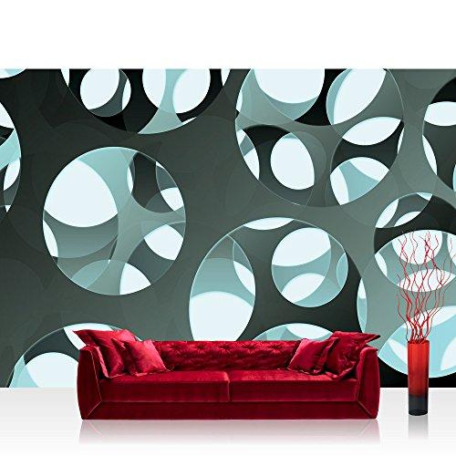 Vlies Fototapete 400x280 cm PREMIUM PLUS Wand Foto Tapete Wand Bild Vliestapete - 3D Tapete Abstrakt Kreise Löcher Wand Ausschnitt Design Moderne Kunst 3D Optik grau - no. 887