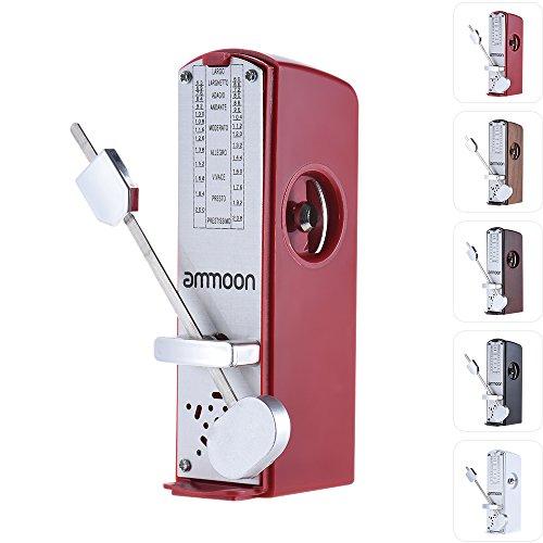 ammoon Tragbares mechanisches Mini-Universal-Metronom, 11cm Höhe, für Klavier, Gitarre, Violine, Ukulele, chinesische Zither, Musikinstrumente rot
