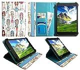 Kiano SlimTab 8 Cute Girl Universal 360 Grad Wallet Schutzhülle Folio mit Kartensteckplätzen ( 7 - 8 zoll ) von Sweet Tech