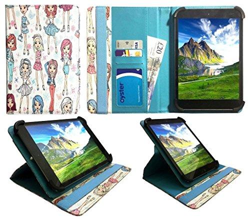Teclast P10 / X10 / Tbook 10 S 10.1 Pollici Tablet Ragazza Carina Universale 360 Gradi di Rotazione PU Pelle Custodia Case Cover ( 9 - 10 Pollici ) di Sweet Tech