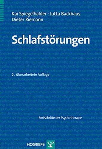 Schlafstörungen (Fortschritte der Psychotherapie/Manuale für die Praxis)