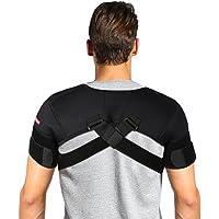 Filfeel Soporte de Hombro, Cinturón de Corrección de Soporte de Hombro Ajustable y Transpirable para Soporte de Postura de Hombro(XL)