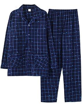 Ellse Algodón Pijamas De Algodón De Manga Larga De Primavera Y Otoño