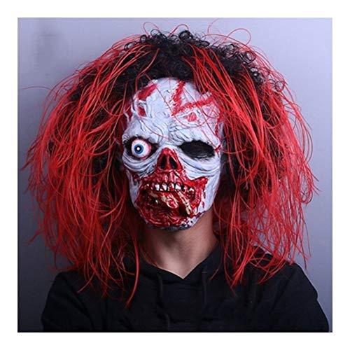 XPFF Halloween Horror Maske, Halloween Kostüm Party Scary Dekorative Requisiten Karneval Nacht Grimasse Maske Kopfbedeckung, Geeignet for Kostümball (Color : - Verstopfte Kostüm